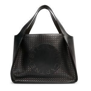 Stella McCartney Logo Laser Cut Tote Shoulder Bag
